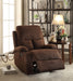 Rosia Chocolate Velvet Recliner (Motion) image
