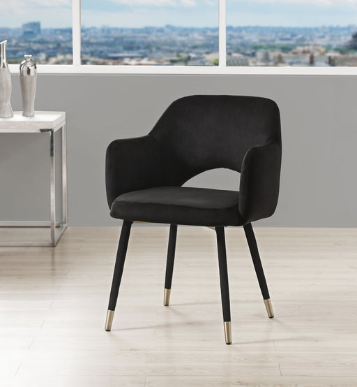 Applewood Black Velvet & Gold Accent Chair image