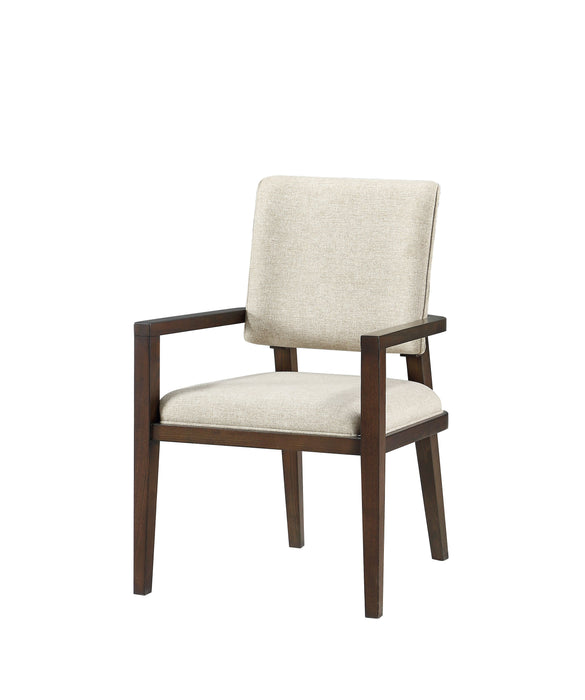 Niamey Fabric & Walnut Arm Chair image