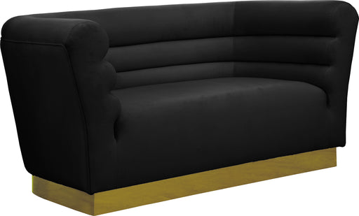 Bellini Black Velvet Loveseat image