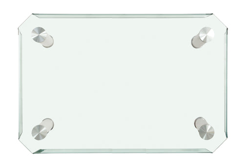 Gordie Black & Clear Glass Dining Table image