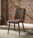 Hosmer Vintage Chocolate Top Grain Leather & Antique Black Side Chair image