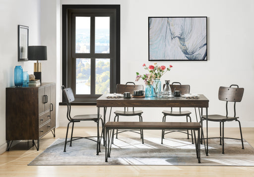 Garron Walnut & Black Dining Table image