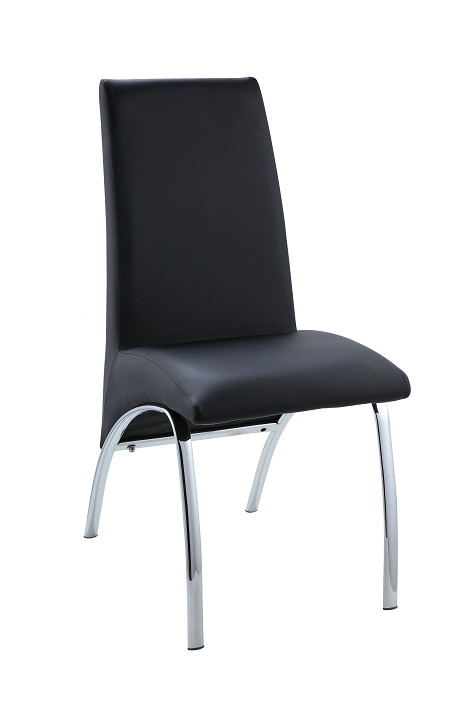 Pervis Black PU & Chrome Side Chair image