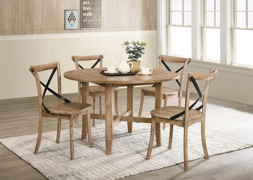 Kendric Rustic Oak Dining Table image