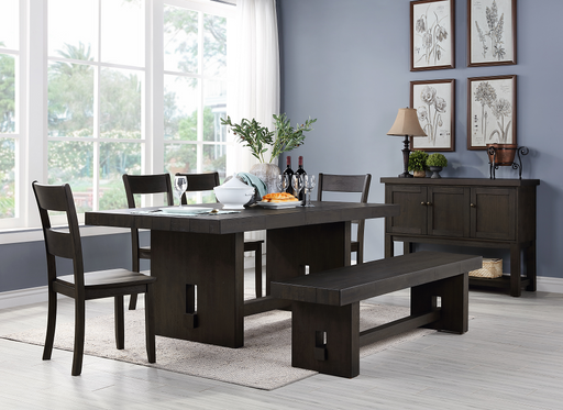 Haddie Distressed Walnut Dining Table image