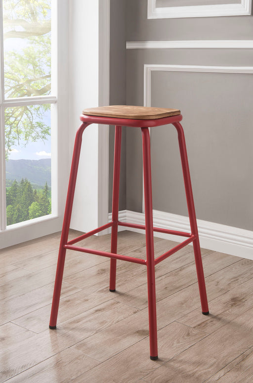 Scarus Natural & Red Bar Stool image
