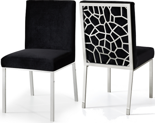 Opal Black Velvet Dining Chair image