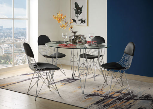 Paula Clear Glass & Chrome Dining Table image