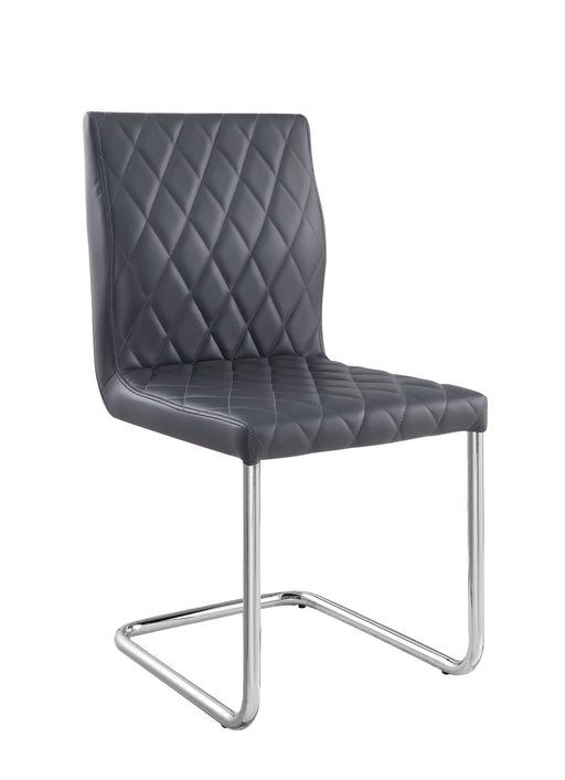 Ansonia Gray PU & Chrome Side Chair image