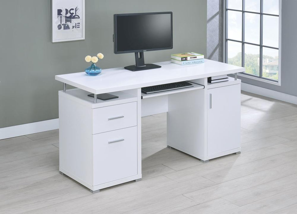 G800108 Contemporary White Computer Desk image