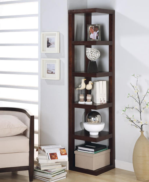 G800268 Transitional Cappuccino Bookcase image