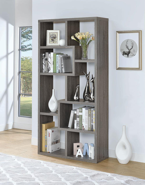 G800510 Contemporary Weathered Grey Bookcase image