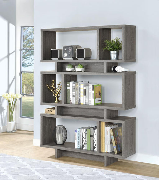 G800554 Contemporary Weathered Grey Bookcase image