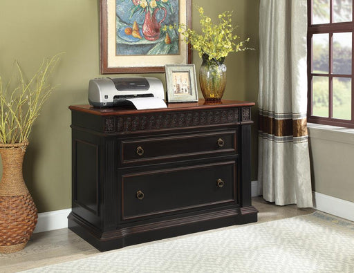 Rowan Traditional Black and Espresso File Cabinet image