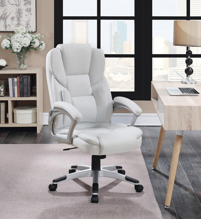 G801140 Casual White Faux Leather Office Chair image