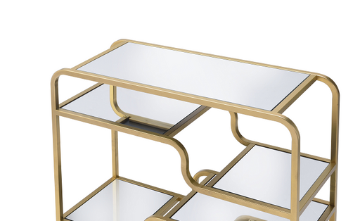 Astrid Gold & Mirror Sofa Table image
