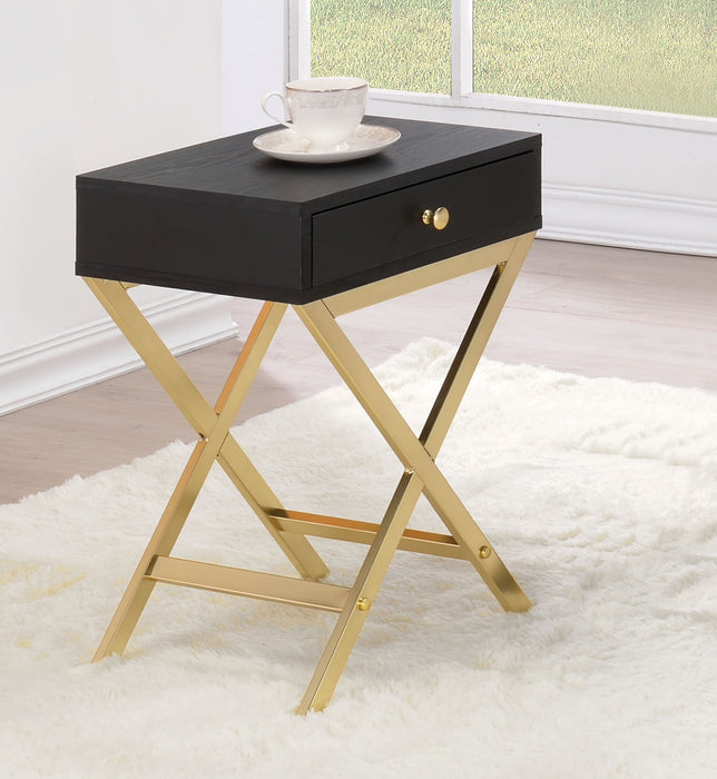 Coleen Black & Brass Side Table image