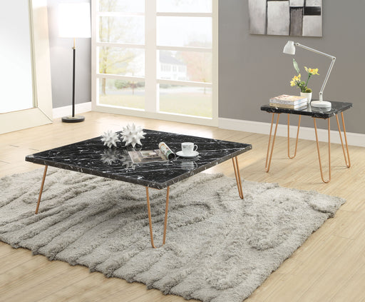Telestis Black Marble & Gold Coffee Table image