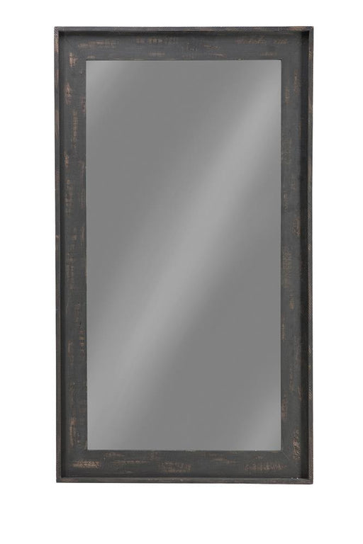 G902767 Distressed Brown Accent Mirror image