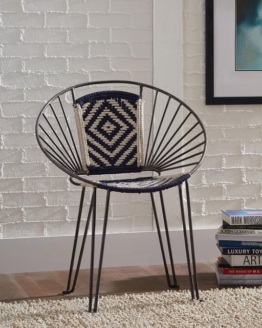 G903868 Contemporary Gunmetal Accent Chair image