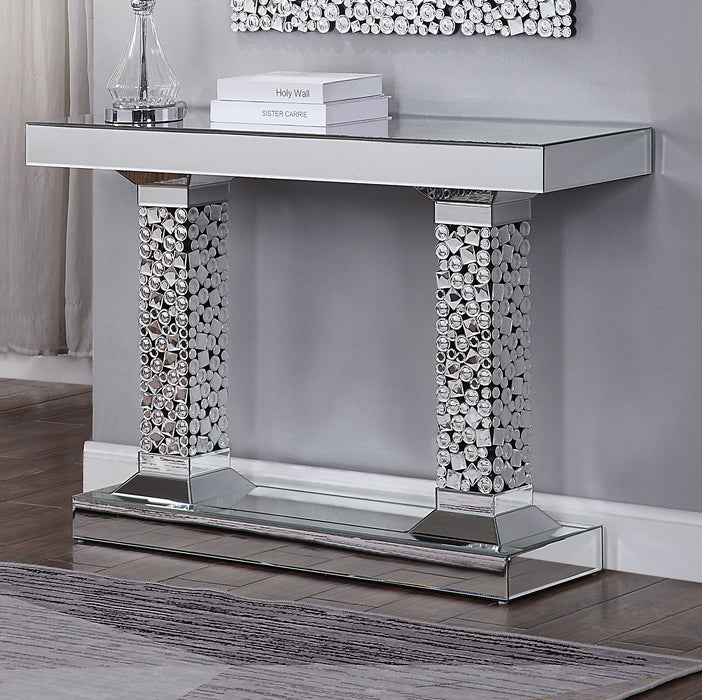 Kachina Mirrored & Faux Gems Console Table image