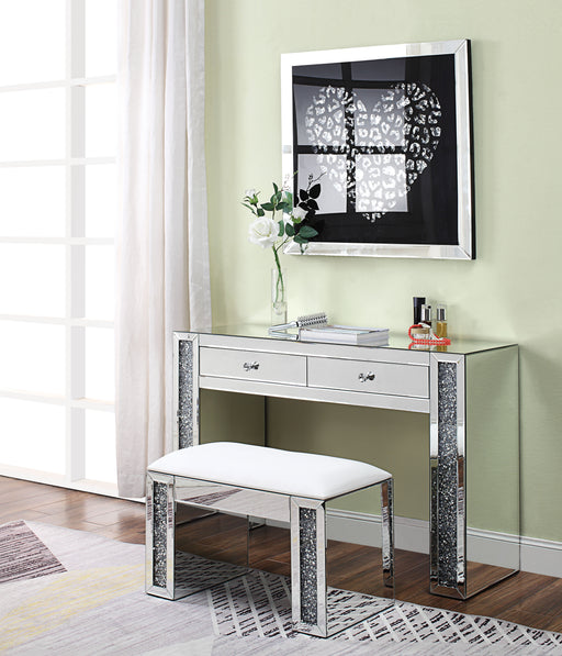Noralie Mirrored & Faux Diamonds Vanity Desk image