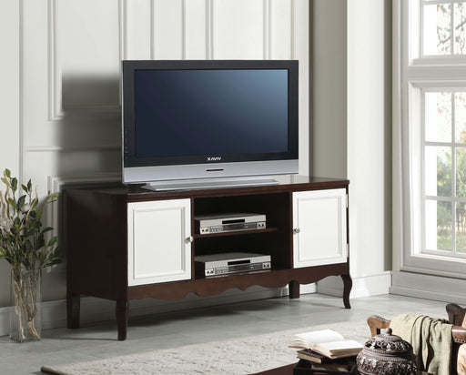 Mathias Walnut & White TV Stand image
