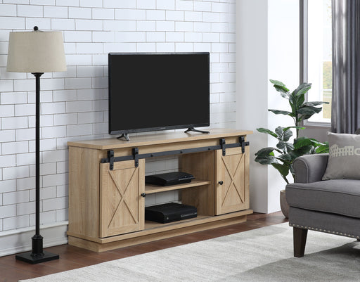Rowan Natural TV Stand (Optional Fireplace) image