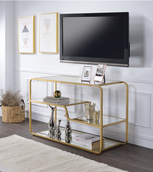 Astrid Gold & Mirror TV Stand image