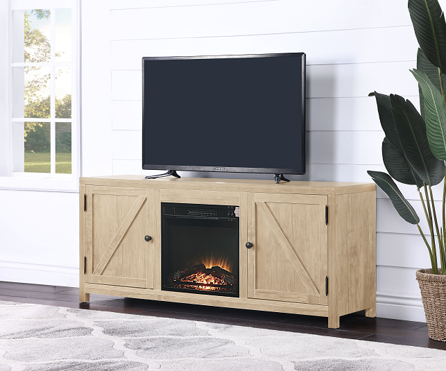 Ciel Natural TV Stand (Optional Fireplace) image