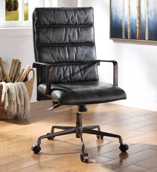 Jairo Vintage Black Top Grain Leather Office Chair image