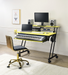 Suitor Yellow & Black Computer Desk image