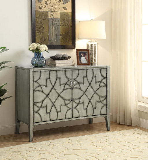 Transitional Silver Two-Door Accent Cabinet image