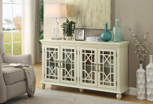 Traditional Antique White Accent Cabinet image