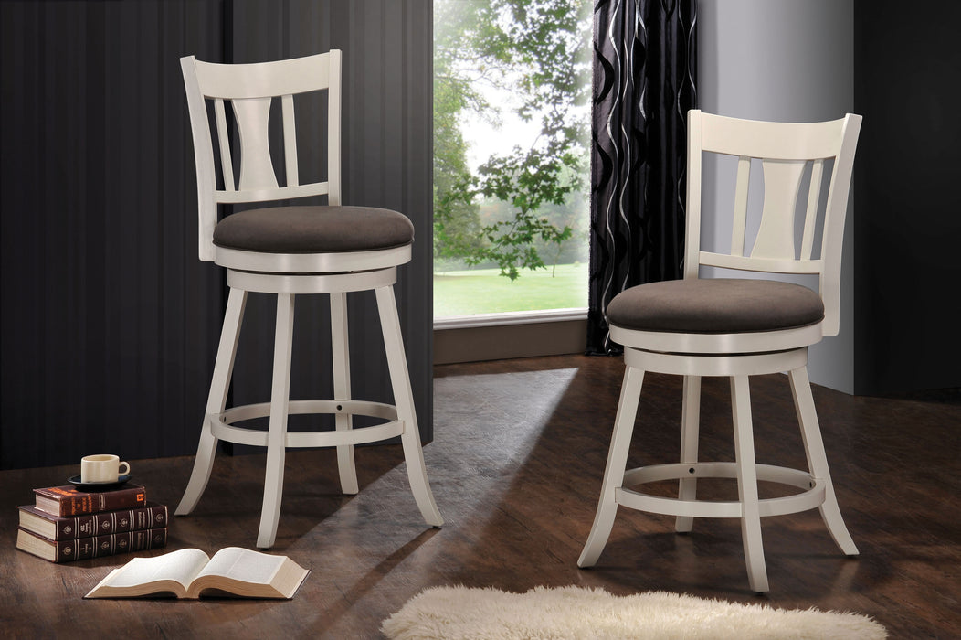 Tabib Fabric & White Bar Chair (1Pc) image