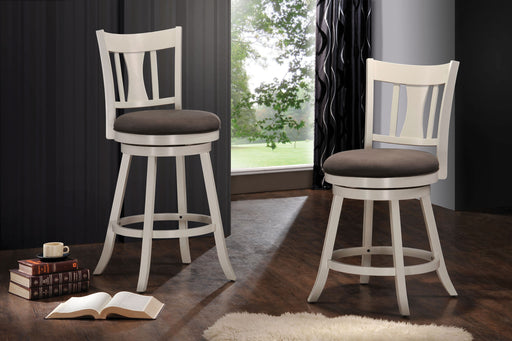 Tabib Fabric & White Counter Height Chair image