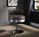 Brancaster Distress Chocolate Top Grain Leather & Chrome Accent Chair image