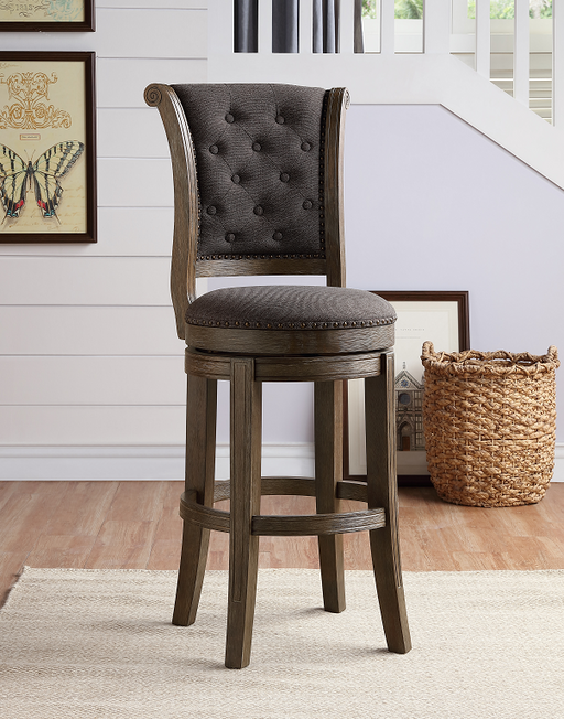 Glison Charcoal Fabric & Walnut Counter Height Chair (1Pc) image
