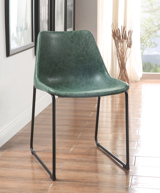 Valgus Vintage Green & Black Side Chair image