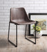 Valgus Vintage Mocha & Black Side Chair image