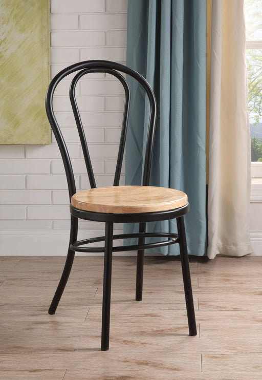 Jakia Black & Natural Side Chair image