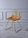 Fantasia Whiskey PU & Gold Side Chair image