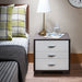 Eloy White & Black Accent Table image