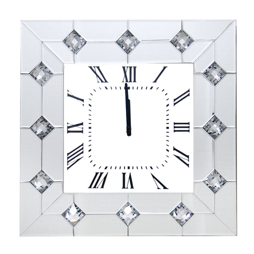 Hessa Mirrored & Faux Rhinestones Wall Clock image