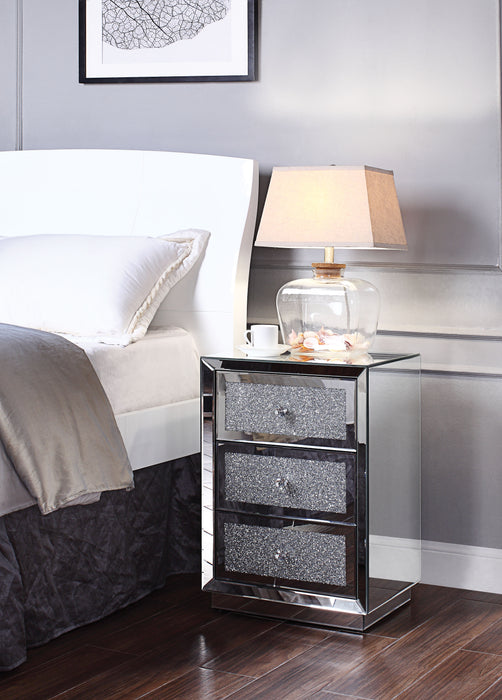 Rekha Mirrored & Faux Crystals Accent Table image