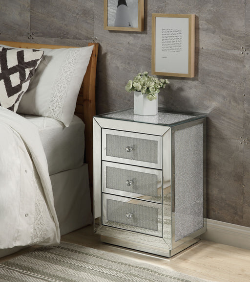 Lavina Mirrored & Faux Diamonds Accent Table image