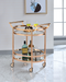 Lakelyn Rose Gold & Clear Glass Serving Cart image