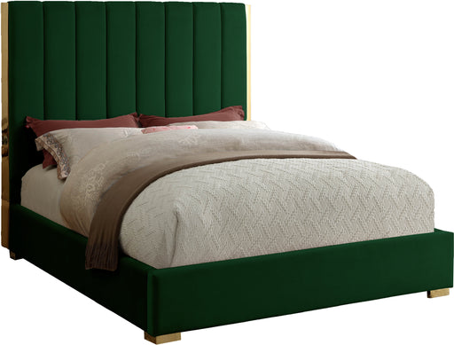 Becca Green Velvet King Bed image
