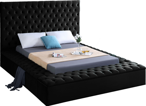 Bliss Black Velvet Full Bed (3 Boxes) image